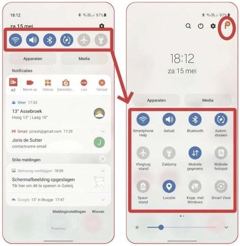instellingenschakelaars in Android