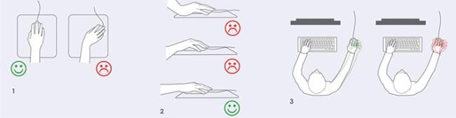 Consejos para evitar lesiones ocasionadas por el ratón del ordenador