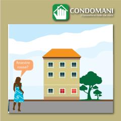 Scegliere il colore delle finestre in condominio: si può?