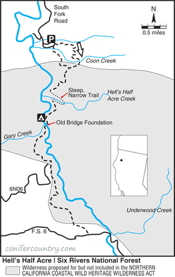 Hells Half Acre Map