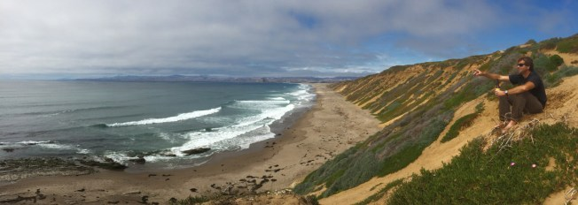 Post-botanizing beach time in Montaña de Oro.