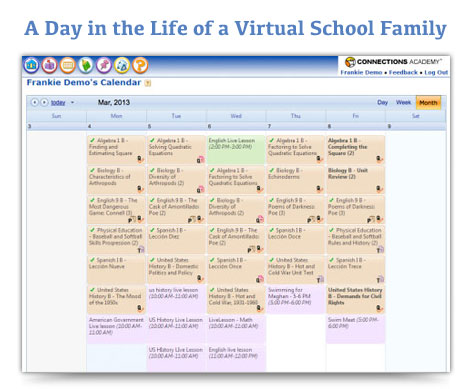 Daily Schedules for Virtual School Families   Online ...