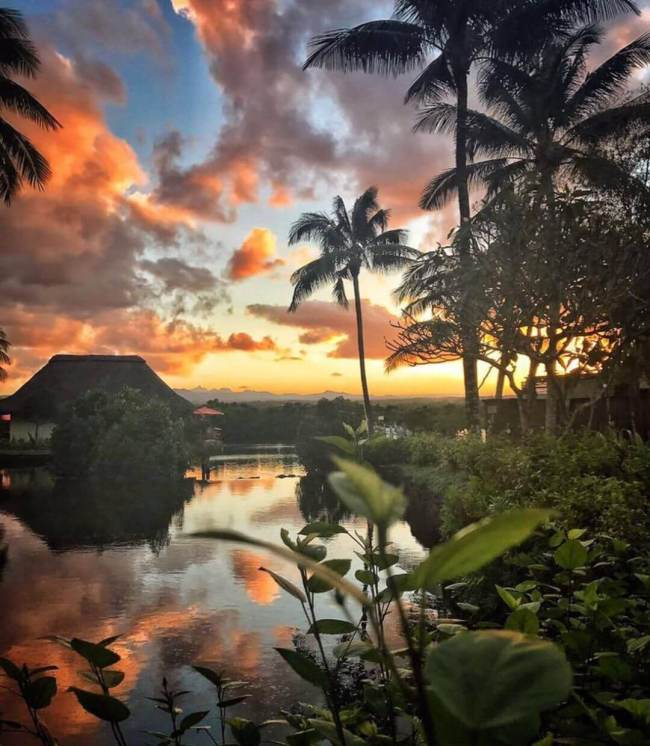 Sunset reflections at Constance Prince Maurice