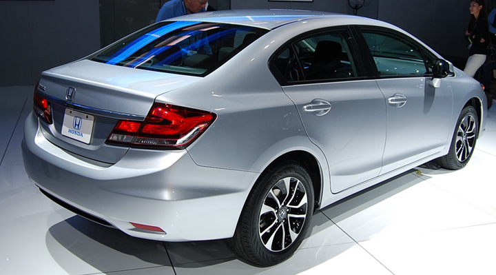 Honda Unveils Freshened 2013 Civic At La Auto Show The