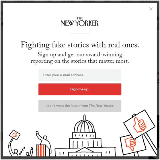 The New Yorker - Onsite Retargeting