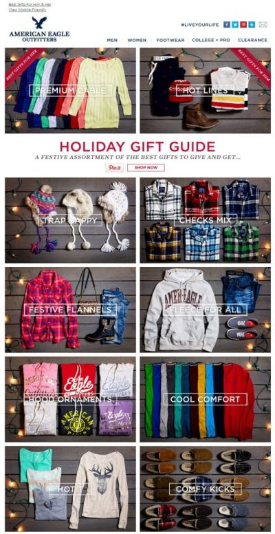 American Eagle Gift Guide Example
