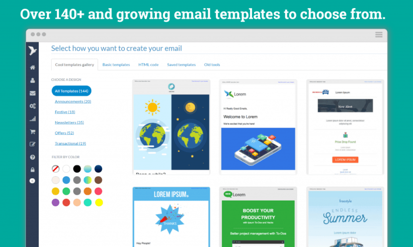 Email editor and templates