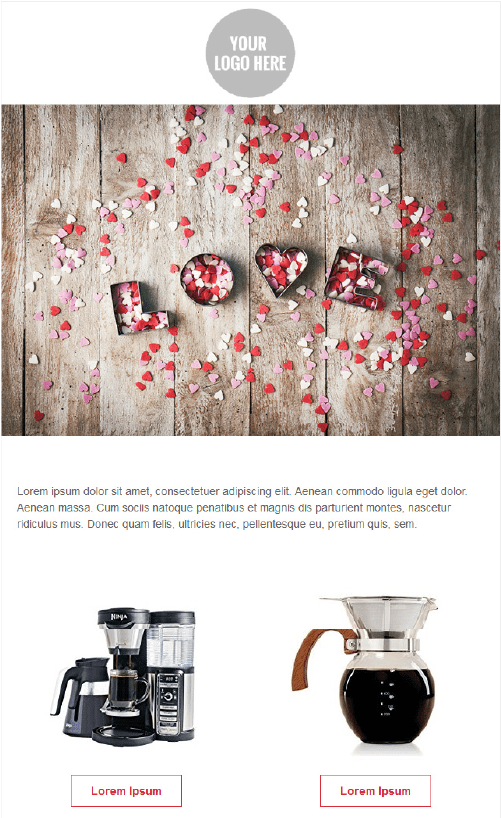 Valentines Day Email Template - Love Petals