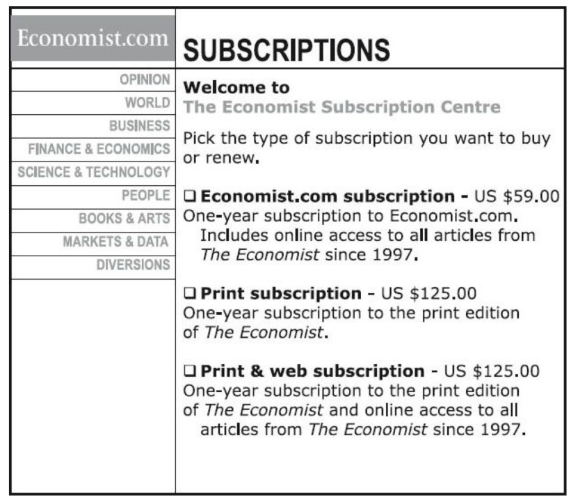 subscription value offering