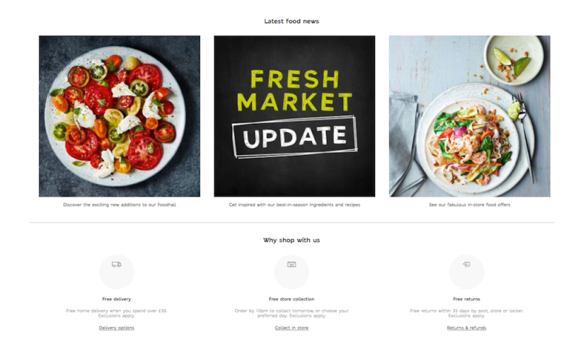 Currently, Marks and Spencer's eCommerce platform successfully showcases all of its brands and product lines