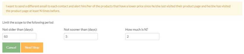 Price drop scenario definition