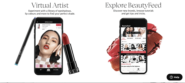 Sephora omnichannel strategy - digital tools.