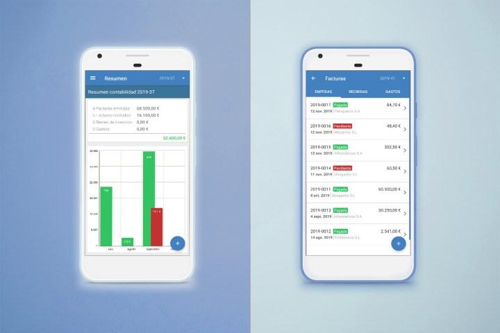 App para hacer facturas de Contasimple