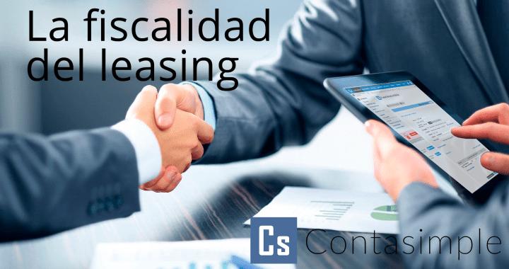 Fiscalidad del leasing