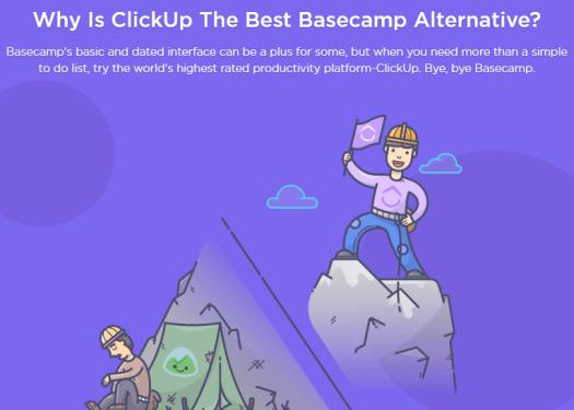 Clickup, Basecamp alternative - Contentstudio