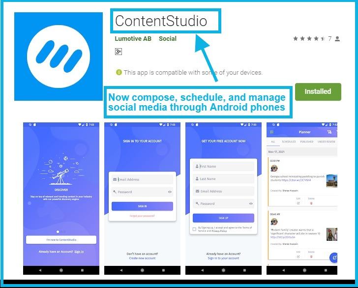 content discovery app - ContentStudio