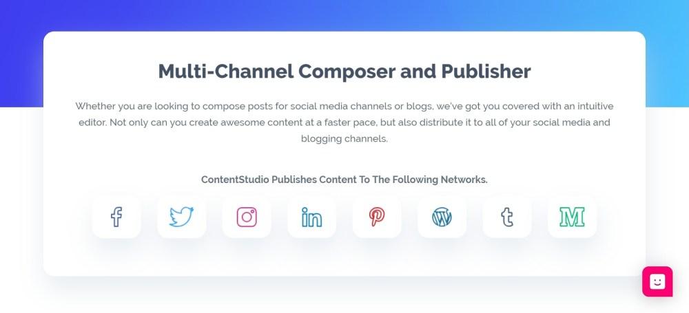 multi channels social publishing - ContentStudio