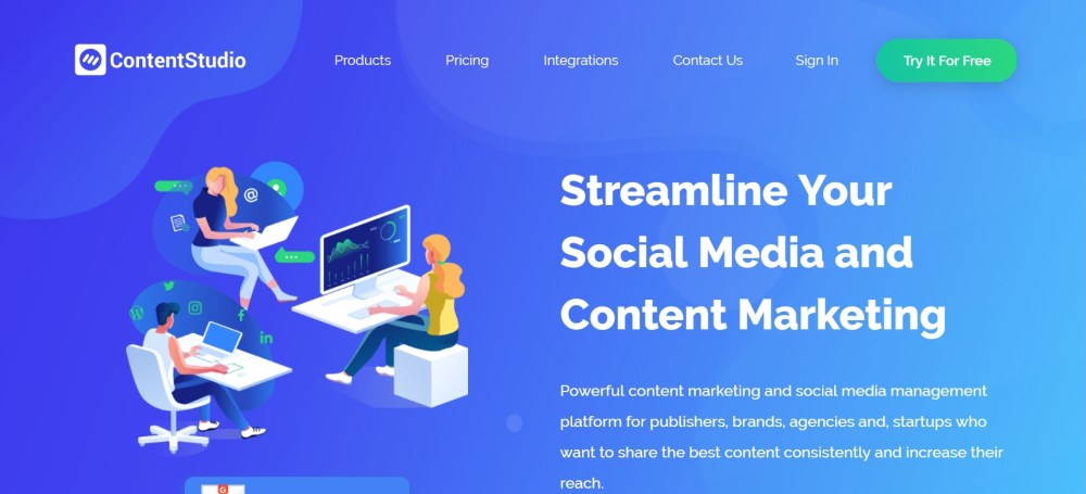 social media automation - ContentStudio