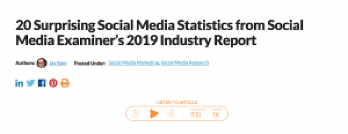 social media statistics-2019
