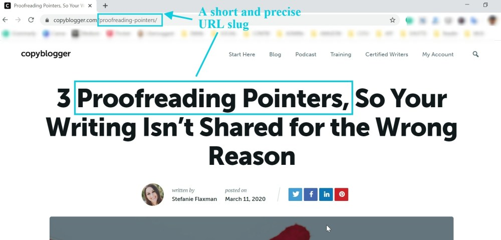 Proofreading pointers