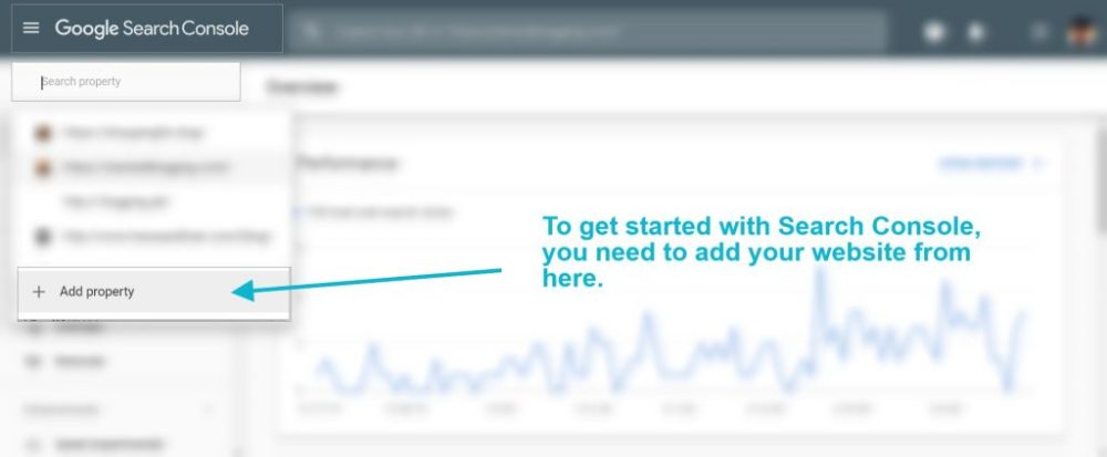 Step2- Search console account