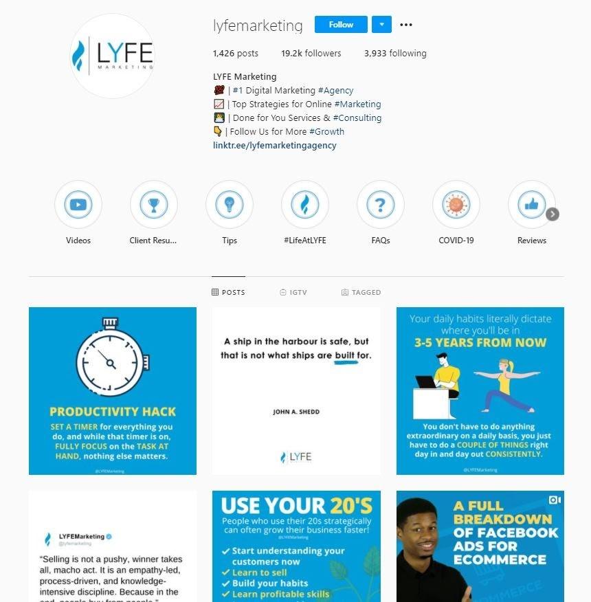 lyfe instagram channel
