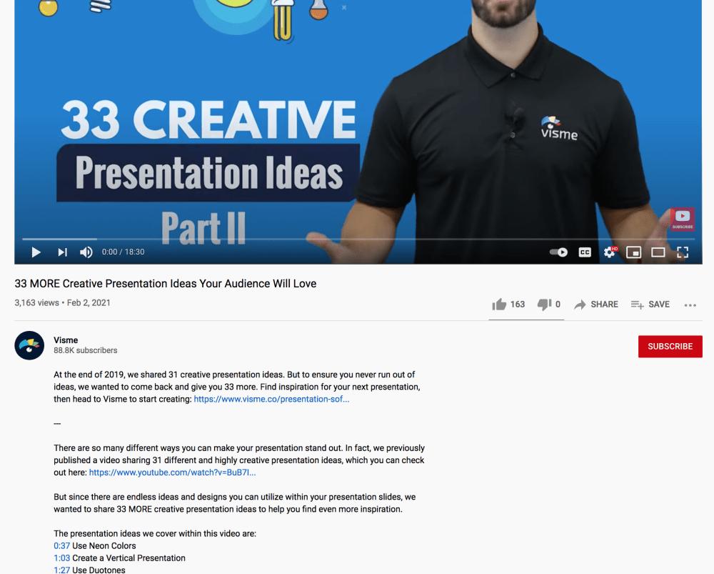 youtube video description example