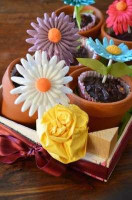Muffin menta e cioccolato per la tavola di Pasqua