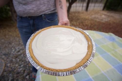 It's the pie! Pre-freezer, though.