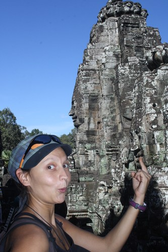 This is a French girl (some kind of physical education teacher) whom I was supposed to send pictures to. I forgot her name and have no idea where I put her email address. Woops! Taken in Angkor Wat, Cambodia, on Dec. 17, 2016.
