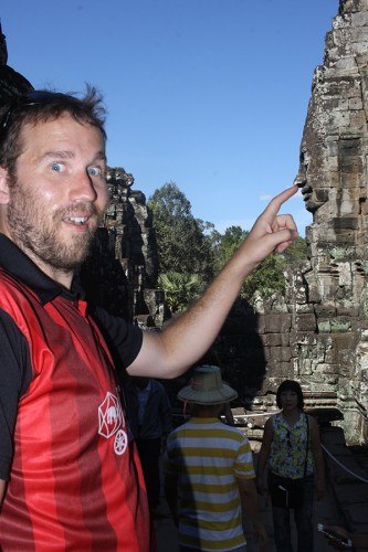 You got to have some fun, right? Taken in Angkor Wat, Cambodia, on Dec. 17, 2016