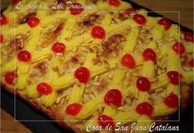 Receta de coca de san juan Catalana con crema pastelera