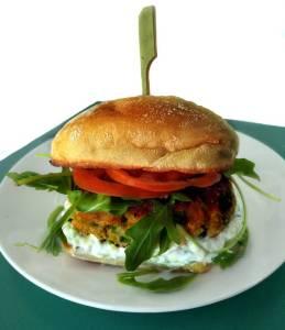 Receta de hamburguesa de salmón