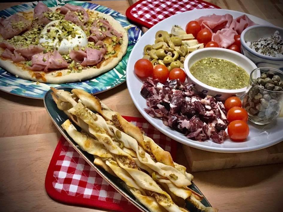 Antipasti y cena italiana