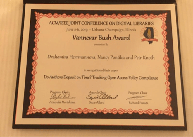 Vannevar Bush Best Paper Award