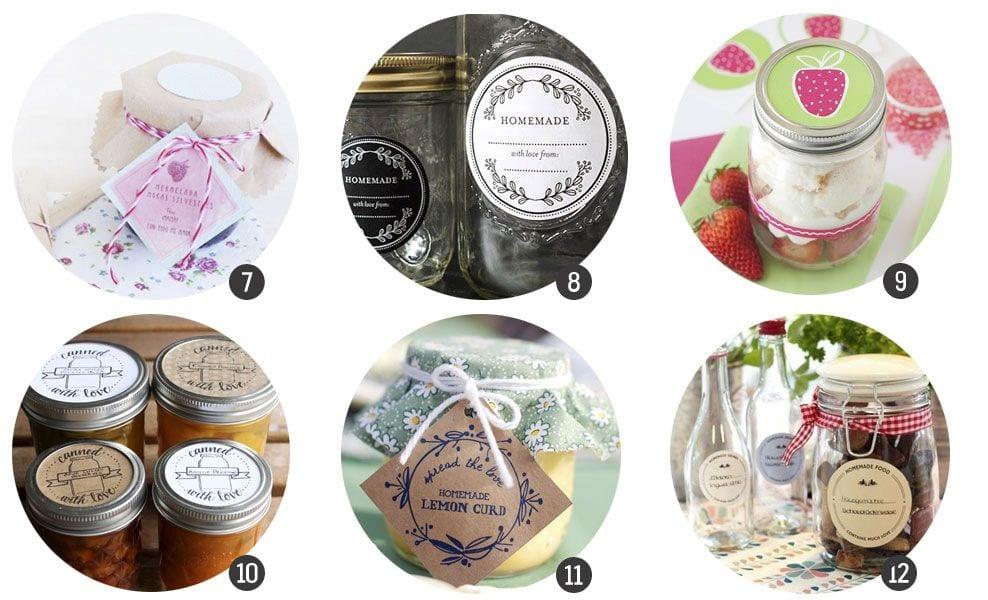 18 imprimibles de etiquetas para conservas y mermeladas caseras