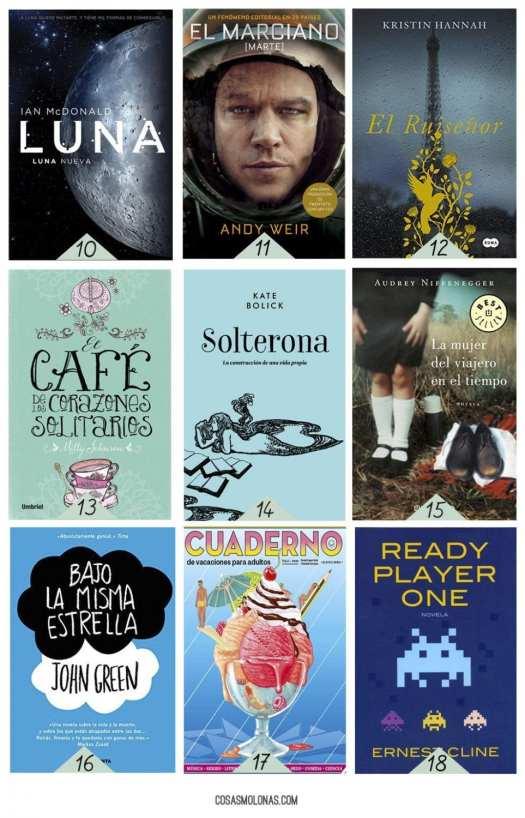 18 libros para llevarse a la playa (o a la montaña)