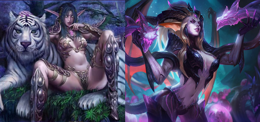 I Settled On An Open Chest With A High Neck For Costumes Like Dragon Sorceress Zyra League Of Legends And Night Elves World Of Warcraft