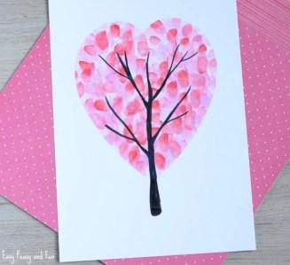 Valentine's Day Heart Fingerprint Tree - Cotswold Baby Co