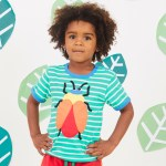 Little Boy wearing Beetle Applique T-Shirt by Toby Tiger | Cotswold Baby Co