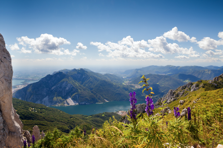 Lake Lecco from the Grigna mountain massif