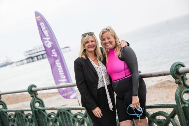 Phillipa Kilby, our Sussex Regional Manager with Tracey Lark, Women in Waves coordinator.