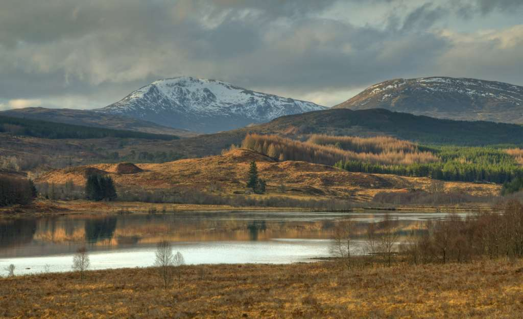 Cairngorms with snow on them