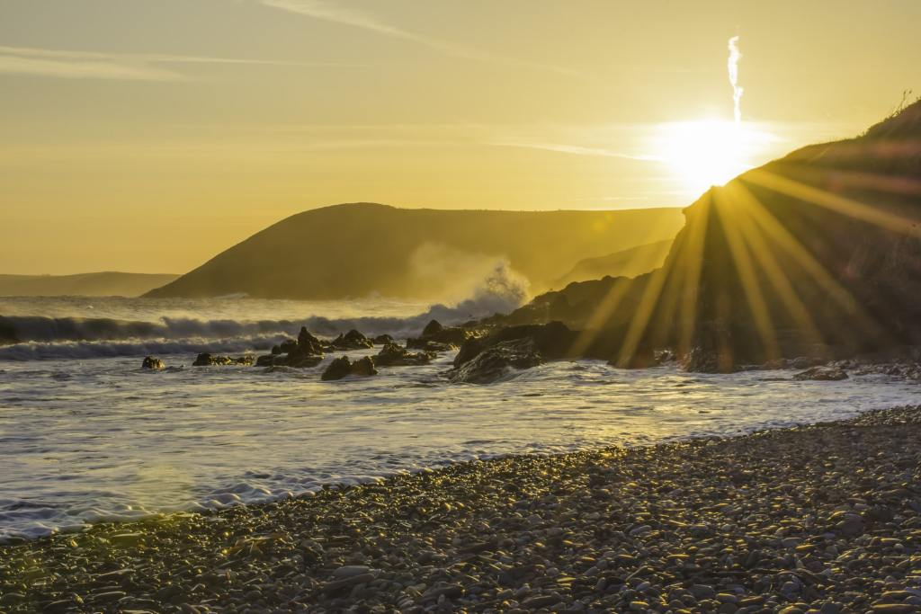 Pembrokeshire Beach at sunrise