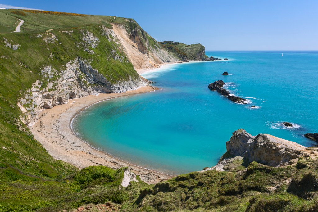 Man o War bay at Lulworth Cove dorset