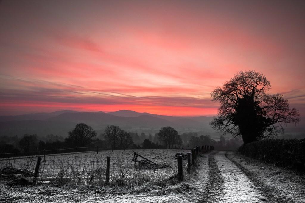 Malvern Hills winter walk