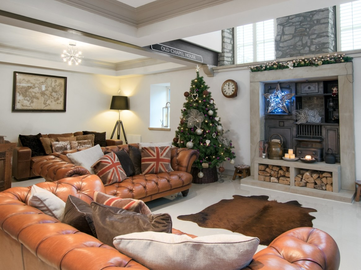 Decorated Christmas cottages