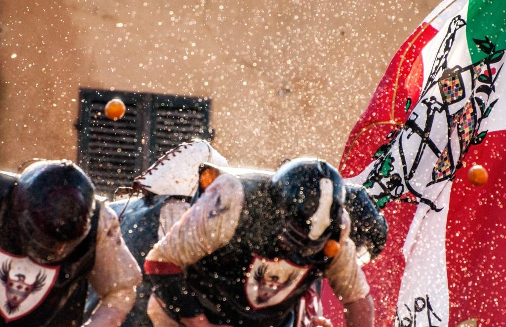 The Battle of the Oranges, Ivrea, Piedmont – 2 March to 5 March