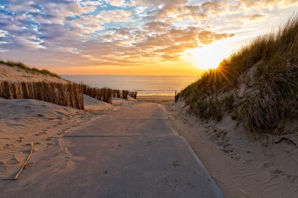Dorset beach at sunset