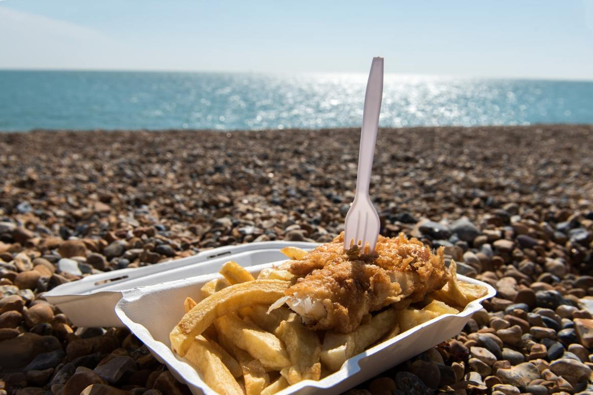 Beach fish and chips